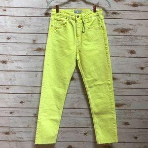 NWT Zara Yellow skinny jeans size 4